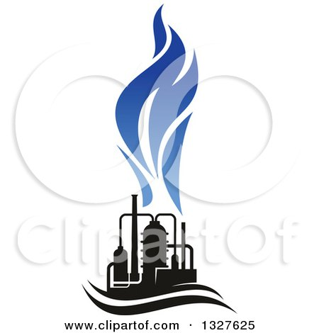 450x470 Clipart Of A Black And Blue Natural Gas And Flame Design 14