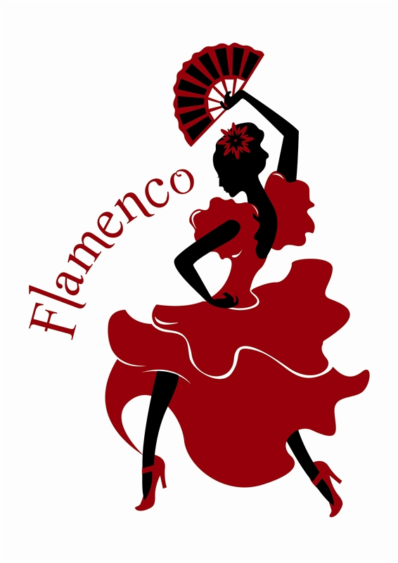 566x801 Flamenco Dancer Wall Decals, Wall Stickers Art Without Boundaries
