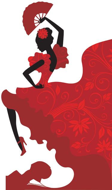 374x631 Flamenco Dancer Wall Sticker