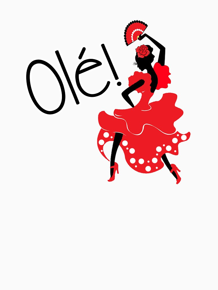 750x1000 Flamenco Ole Spanish Dancer Women's Fitted Scoop T Shirt By