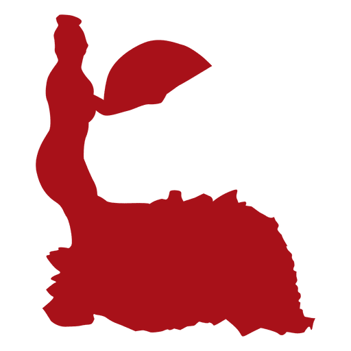 512x512 Flamenco Dancer Fan Silhouette
