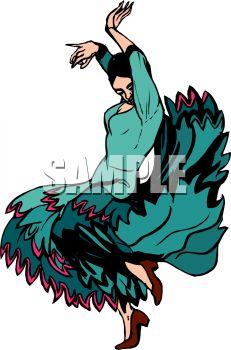 231x350 Latino Woman Doing The Flamenco