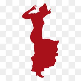 260x260 Silhouette Flamenco Dance Clip Art