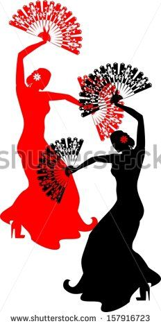 232x470 Spanish Flamenco Dancer. Vector Illustration Shadow Of The Wind