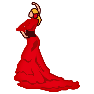 320x320 Flamenco Dancer Emojidex