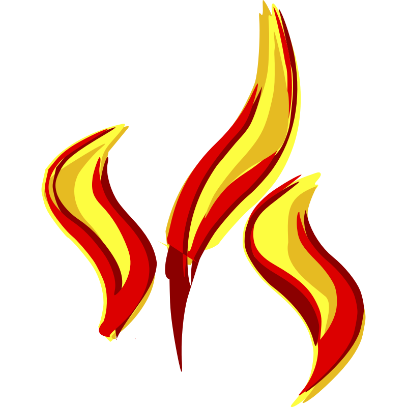 800x800 Flame Clipart Large