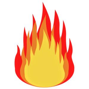 300x300 Flames Clipart