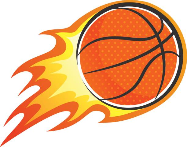 612x480 Flaming Basketball Clipart Symbolic Ball Royalty Free Vector Clip