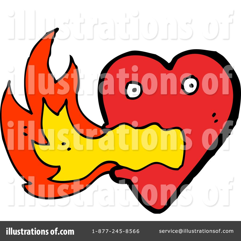 1024x1024 Flaming Heart Clipart