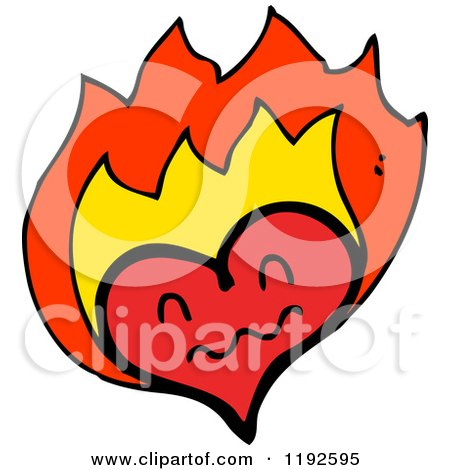 450x470 Flaming Heart Posters, Art Prints By Lineartestpilot