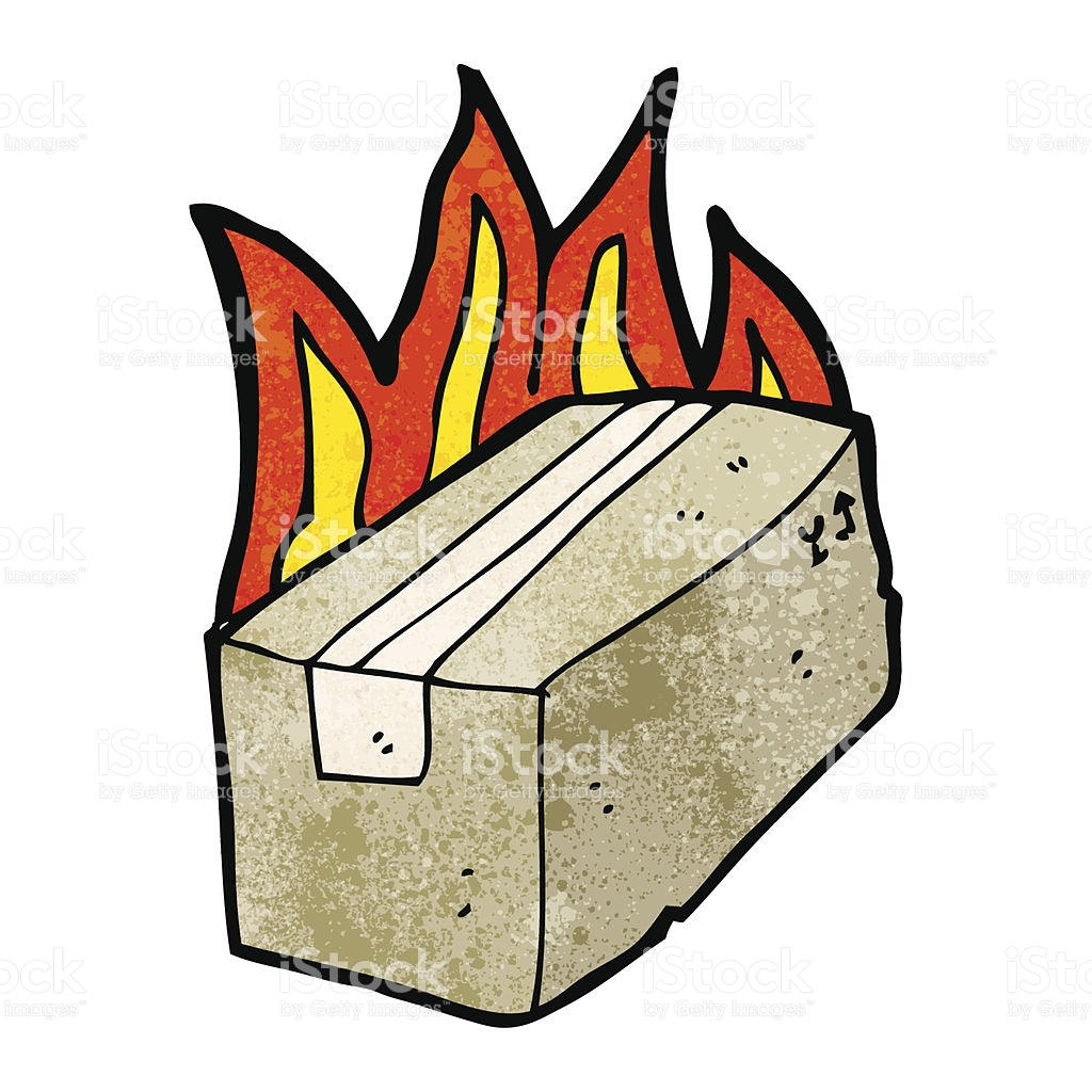 1024x1024 Flaming Box Clipart