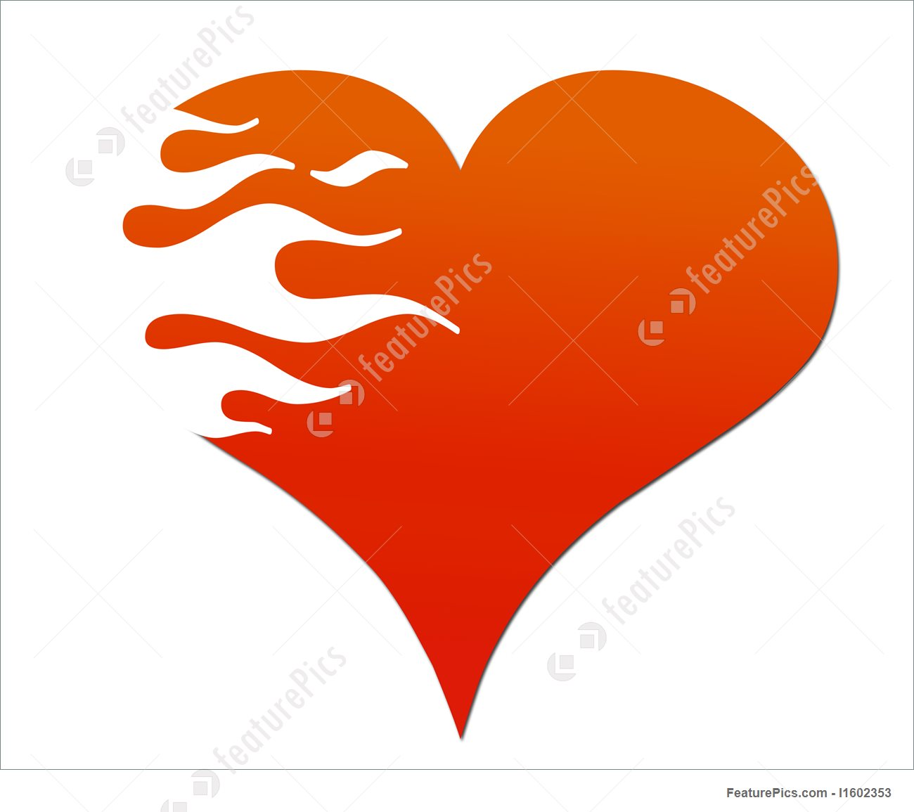 1300x1155 Illustration Of Flaming Heart