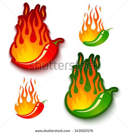 450x470 Flaming Jalapeno Clipart