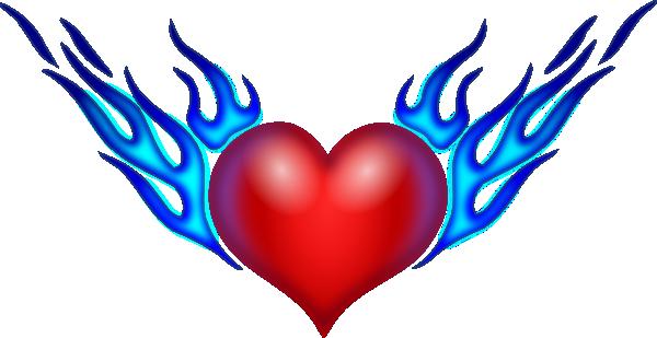 600x309 Hearts Burning Heart Clip Art