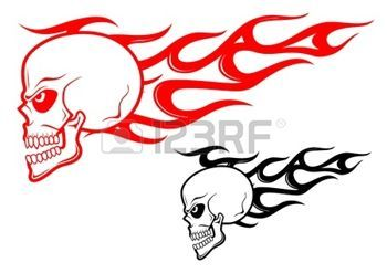 Flaming Skull Clipart
