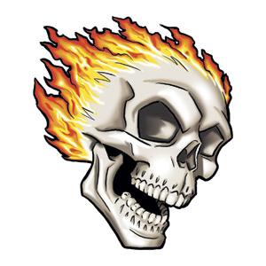 300x300 Skull Tattoo Designs Small Flaming Skull Tattoo Designpng