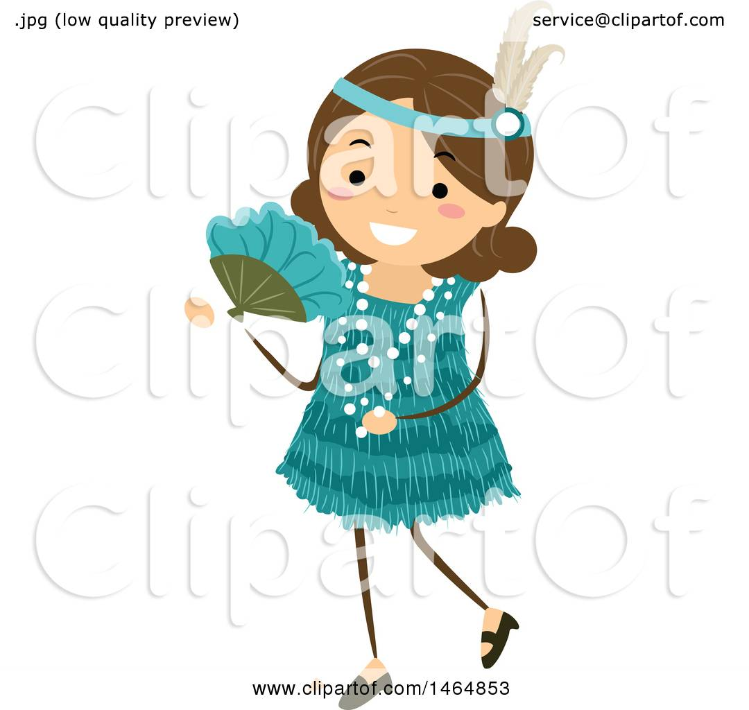 1080x1024 Clipart Of A Flapper Girl In A Teal Dress