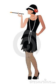 236x354 1920s Flapper Woman Model By Enchantedgal Stock
