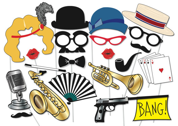 570x403 Roaring 20's Photo Booth Party Props Set 40 Piece