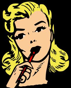 243x300 5493 Retro Woman Clip Art Free Public Domain Vectors