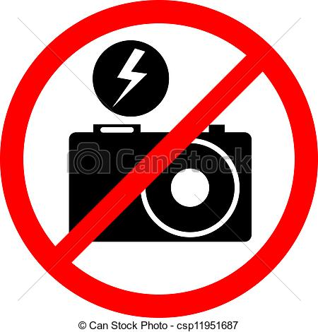 450x470 Creative Design Of No Flash Photo Vector