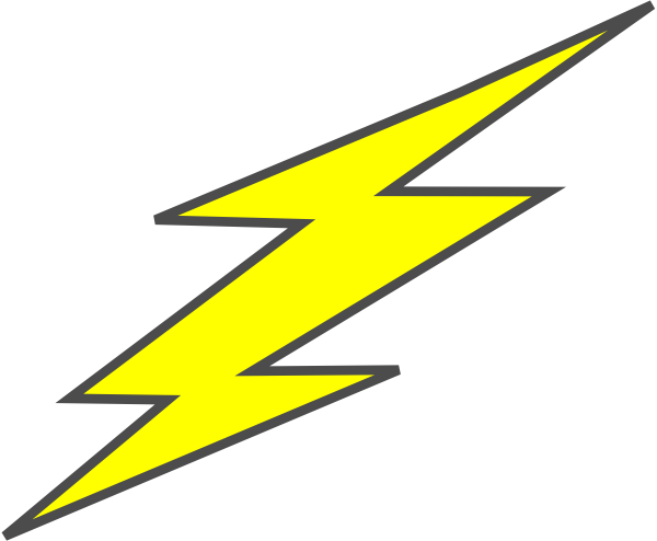 600x494 Straight Flash Bolt Clip Art