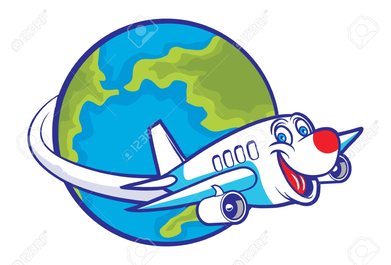 1300x881 Plane Flying Around World Clipart Amp Clip