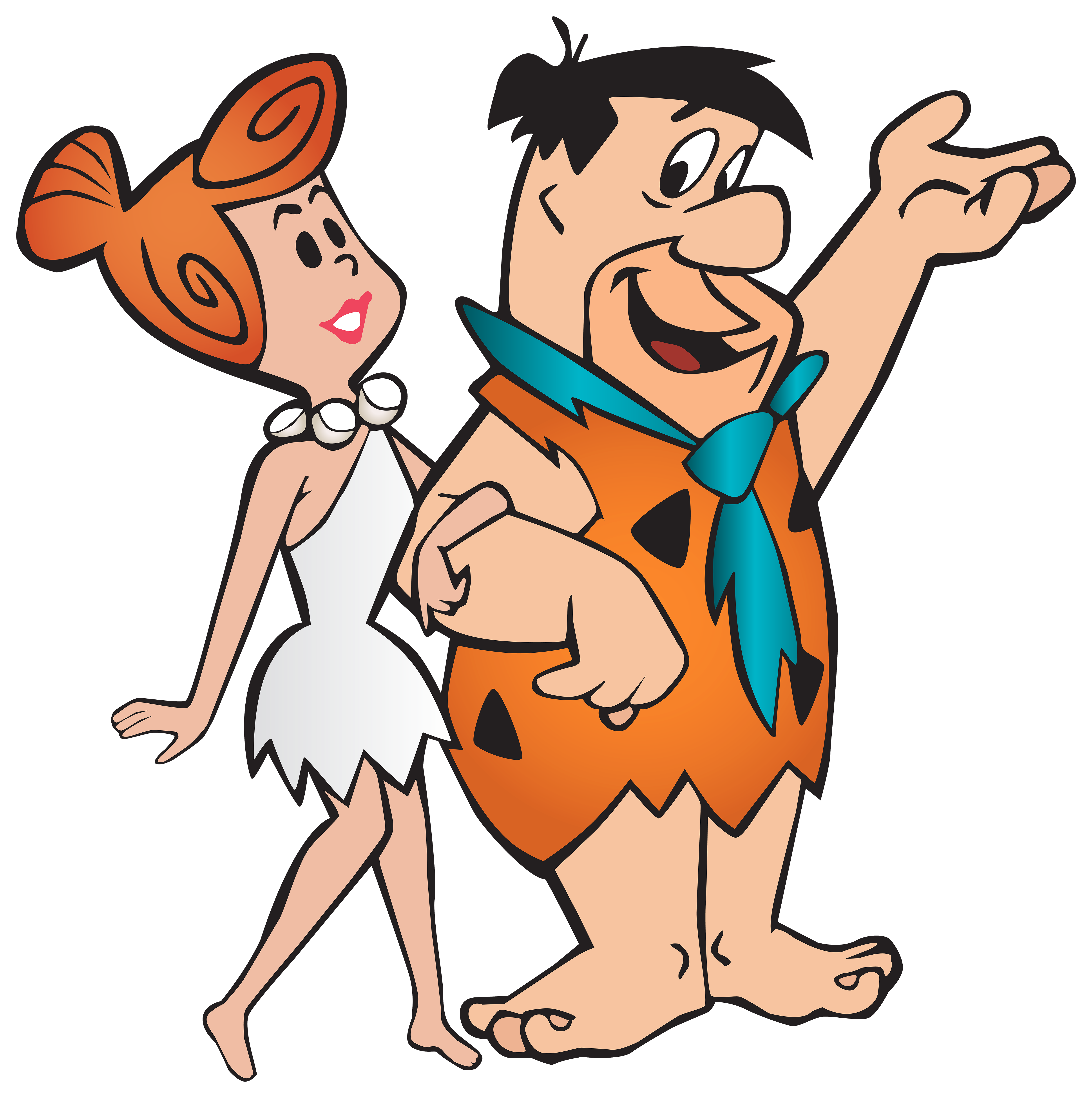 4971x5000 Fred And Wilma Flintstone Transparent Png Clip Art Image
