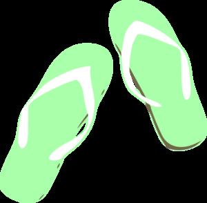 300x294 Green Flip Flops Clip Art