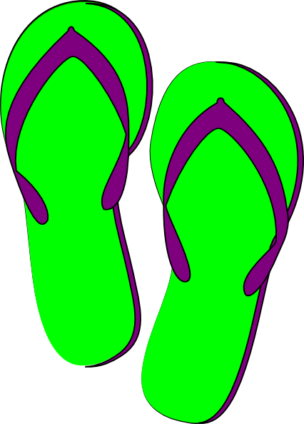 426x594 Flip Flop Clipart Green Purple Flip Flops Clip Art