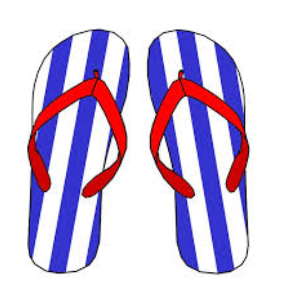 560x571 Best Flip Flop Clip Art, Flip Flop Art Drawing