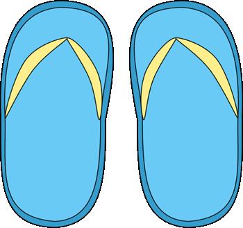 350x329 Blue Flip Flops Clip Art