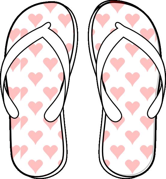 552x596 Flip Flop Clip Art