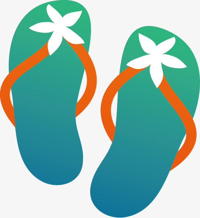 650x708 Slippers Vector Material, Shoe, Flip Flop, Vector Material Png