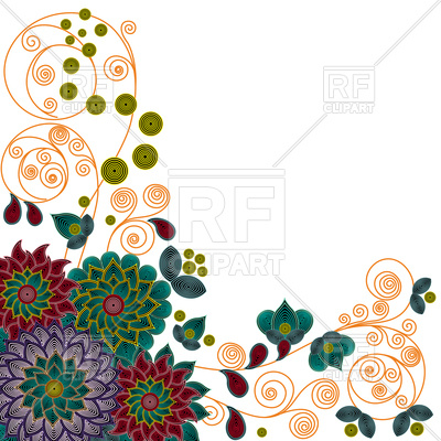 400x400 Floral Pattern With Beautiful Colorful Stylized Flowers Royalty