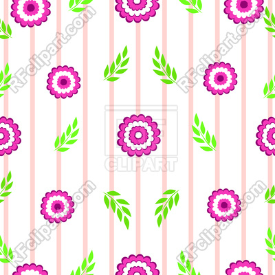 400x400 Floral Striped Seamless Background Royalty Free Vector Clip Art