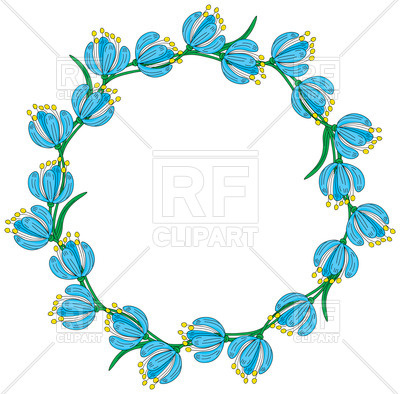 400x394 Floral Wreath Royalty Free Vector Clip Art Image