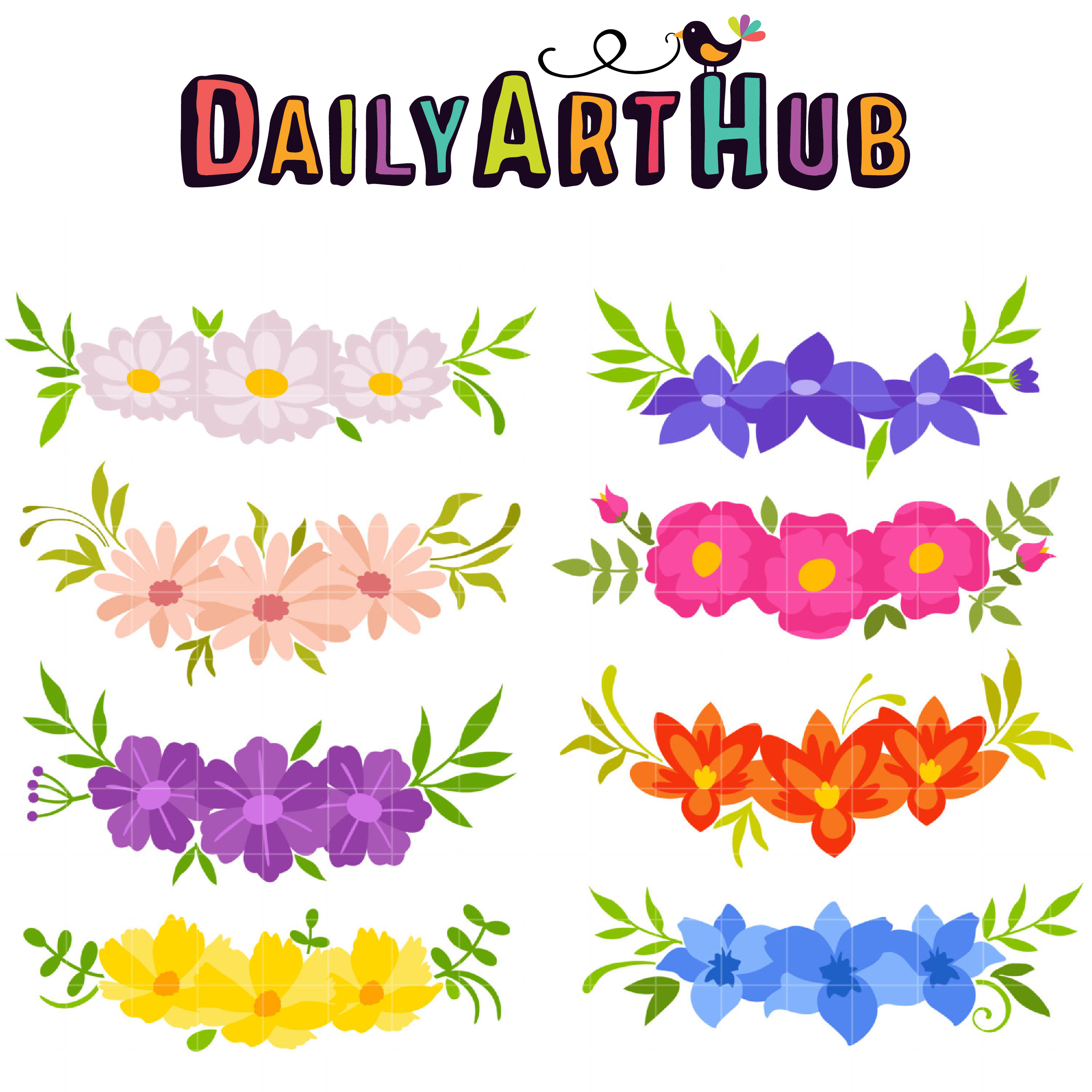 2499x2499 Flower Crowns Clip Art Set Daily Art Hub Free Clip Art Everyday