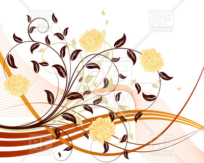 400x320 Floral Design Background Royalty Free Vector Clip Art Image