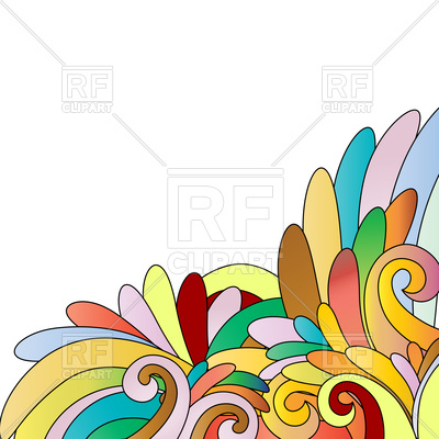 400x400 Floral Multicolor Design Background Royalty Free Vector Clip Art
