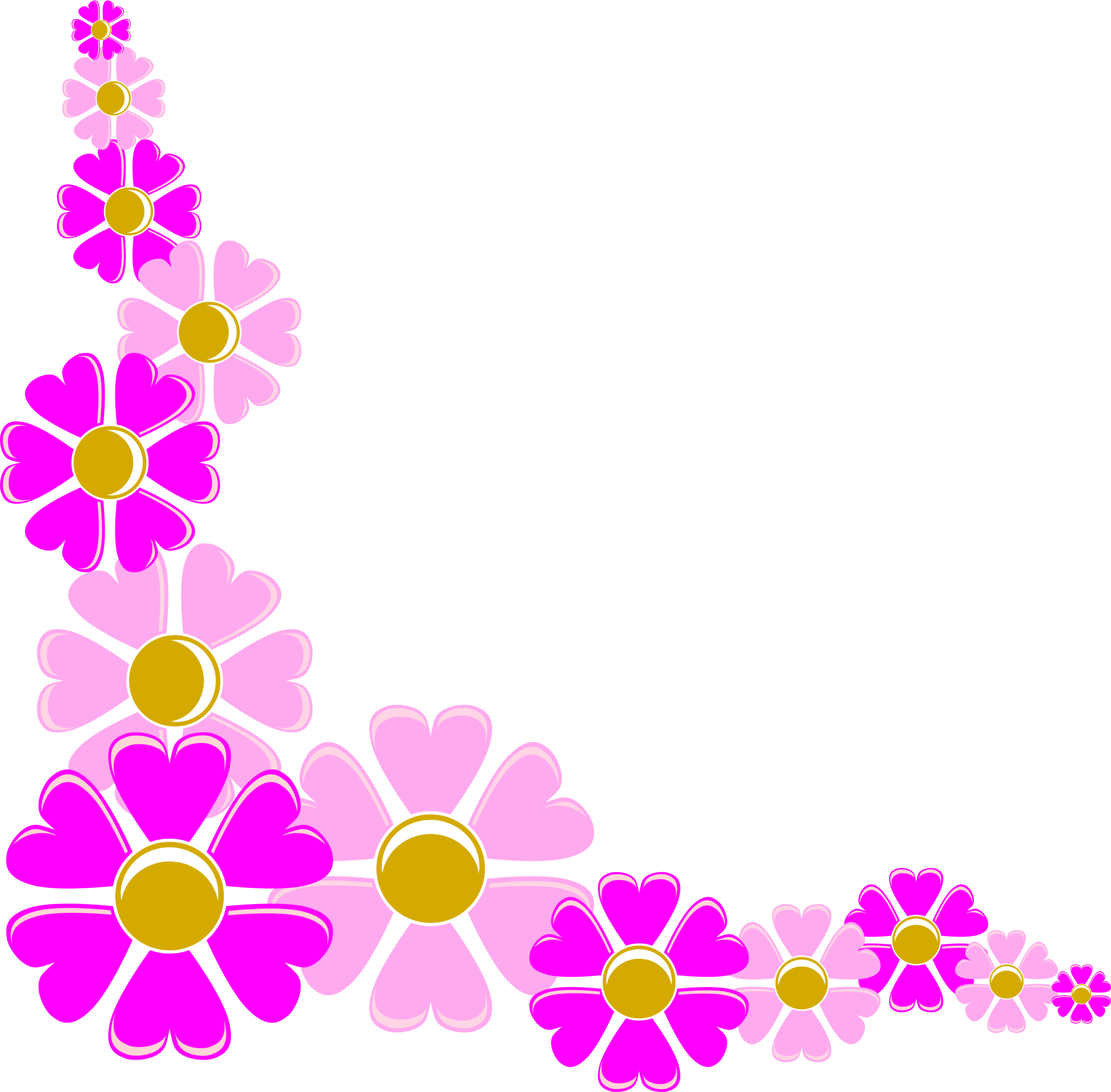 2400x2359 Flower Corner Cliparts Free Download Clip Art