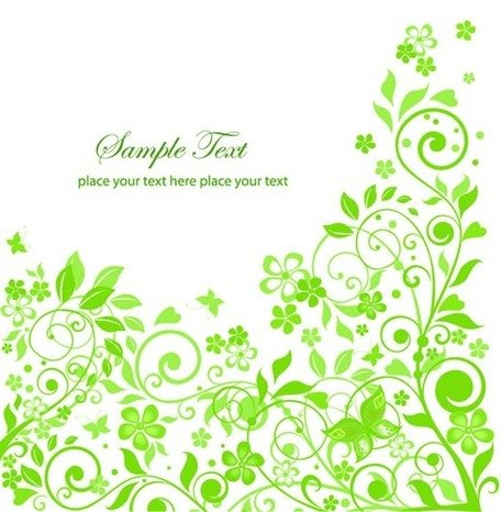 456x466 Free Green Floral Design Clipart And Vector Graphics