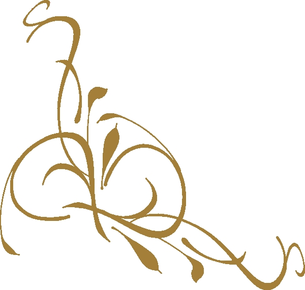 600x571 Gold Flower Clipart Gold Floral Design Clip Art At Clker Vector