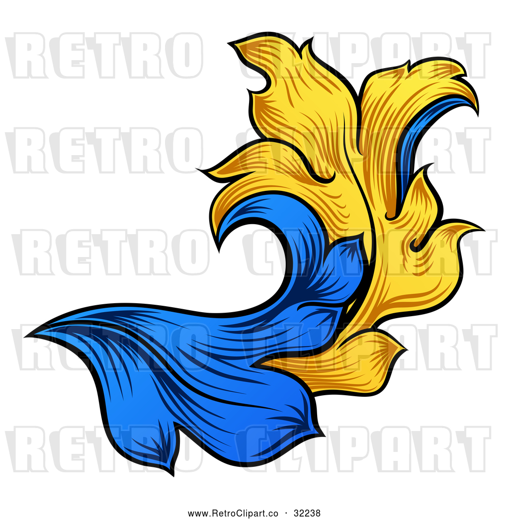 1024x1044 Vector Clip Art Of A Retro Heraldry Floral Design Element