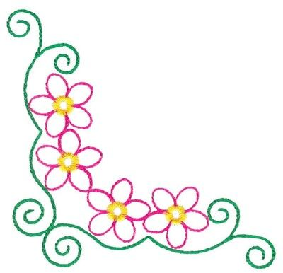 400x386 Fancy Floral Design Clip Art