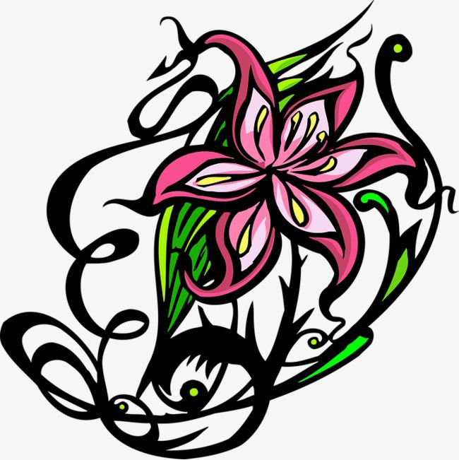 650x651 Artistic Floral Design, Pattern, Flowers, Cartoon Png Image
