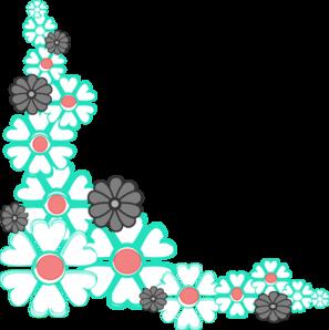 297x298 Floral Corner Clip Art Clipart Panda