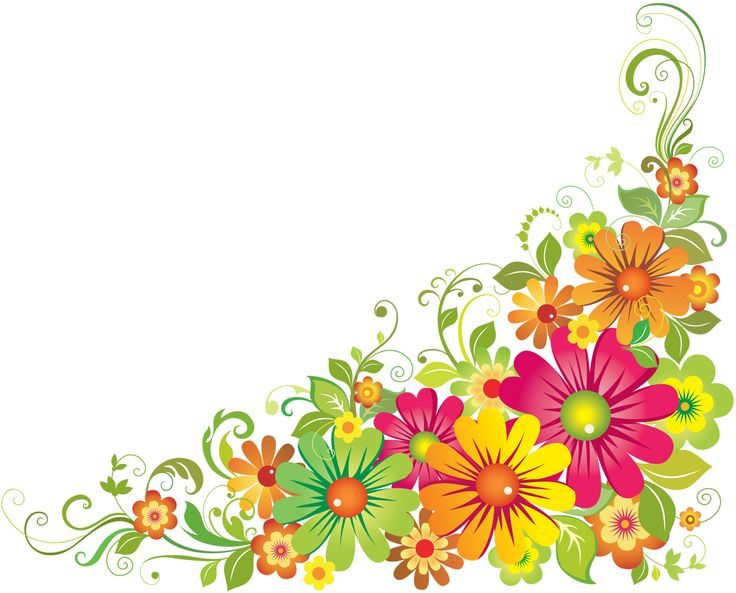 736x593 Flower Borders Clip Art Free Collection Download And Share