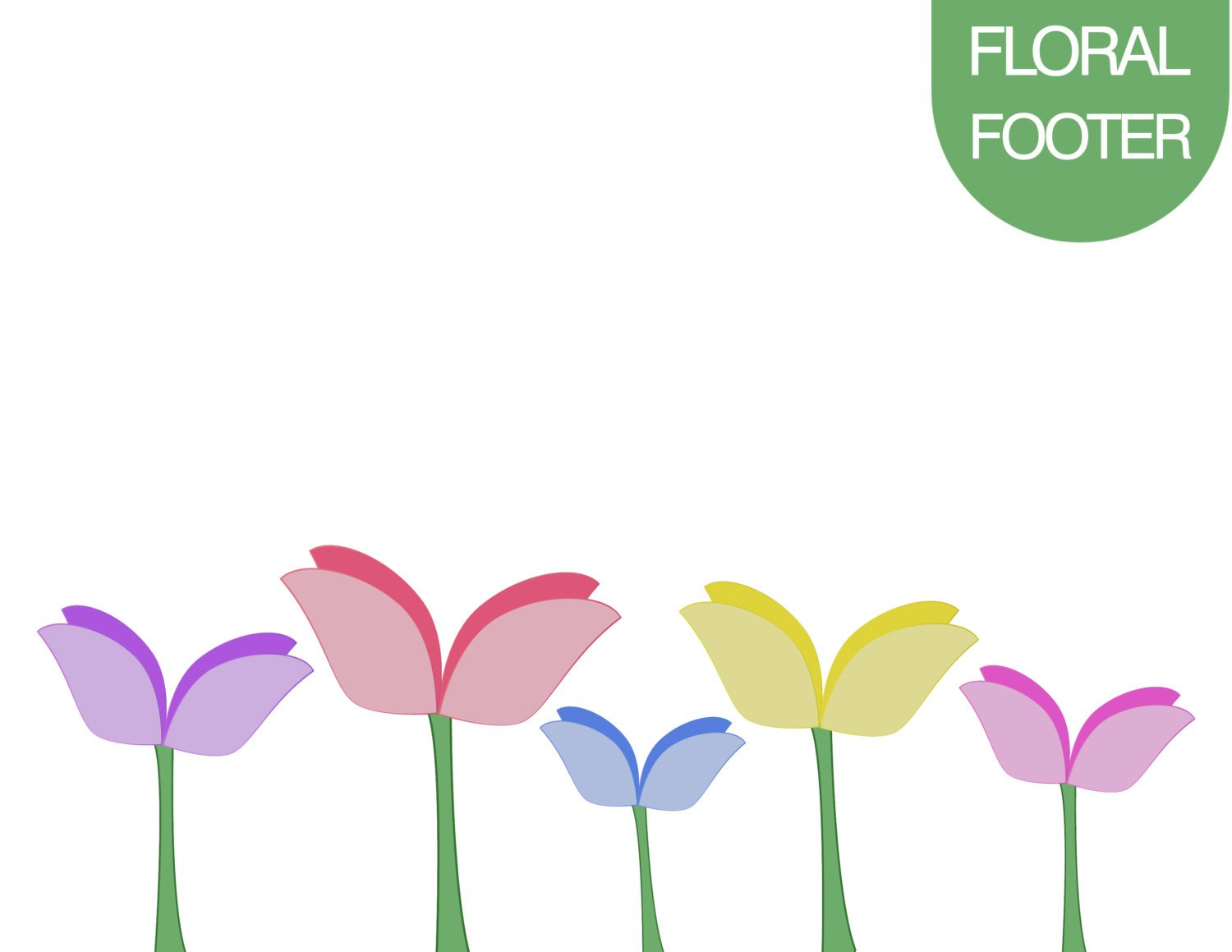 1500x1159 Flower Clipart, Floral Clip Art, Floral Footer, Floral Background