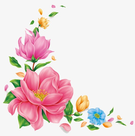 532x535 Hand Painted Pink Flower Pattern, Pink Flowers, Hand Painted